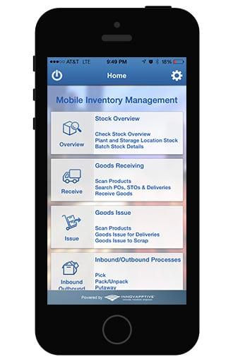 SAP Mobile Inventory App