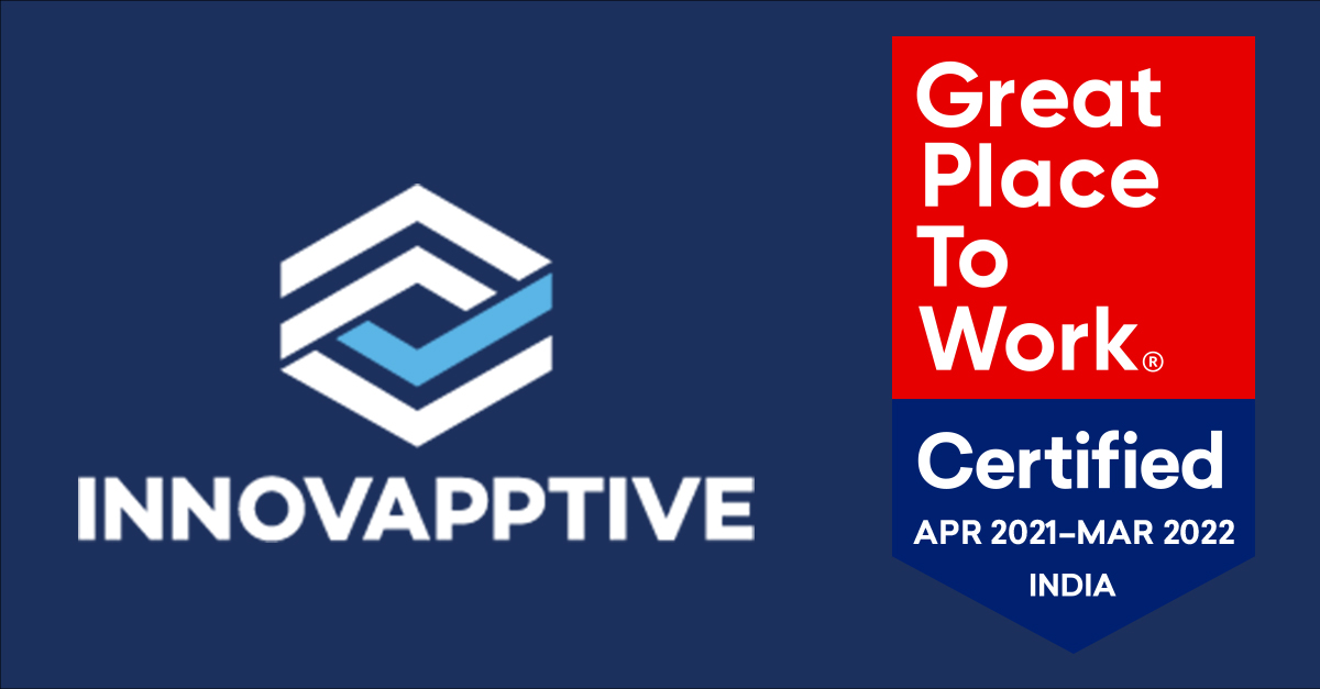 Innovapptive's Workplace Culture Recognized With Great Place to Work® Certification